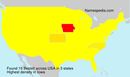 Surname Bestell in USA