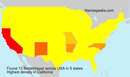 Familiennamen Bestelmeyer - USA