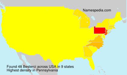 Surname Besterci in USA