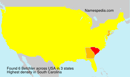 Surname Betchler in USA