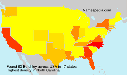 Surname Betchley in USA