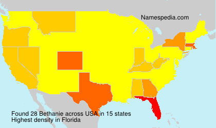 Surname Bethanie in USA