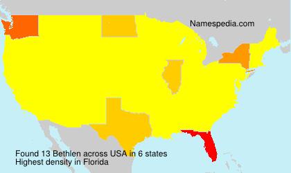 Surname Bethlen in USA