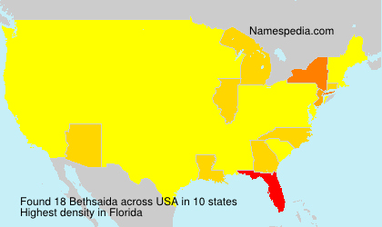 Surname Bethsaida in USA