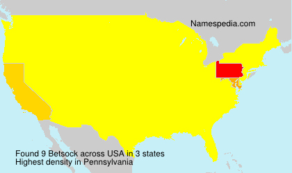 Surname Betsock in USA