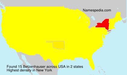 Surname Betzenhauser in USA