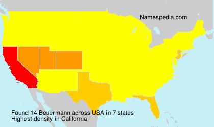 Surname Beuermann in USA