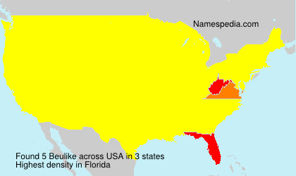Surname Beulike in USA