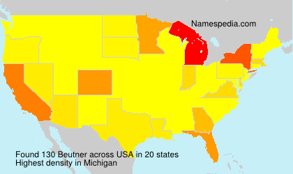 Surname Beutner in USA