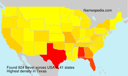 Surname Bevel in USA