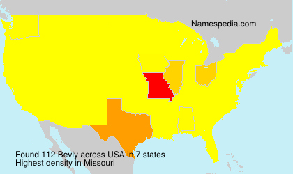 Surname Bevly in USA