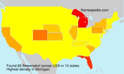 Familiennamen Bewersdorf - USA