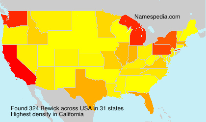Surname Bewick in USA