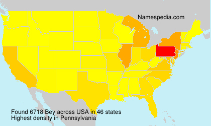 Surname Bey in USA