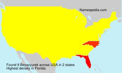 Familiennamen Beyazyurek - USA