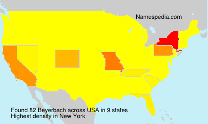 Surname Beyerbach in USA