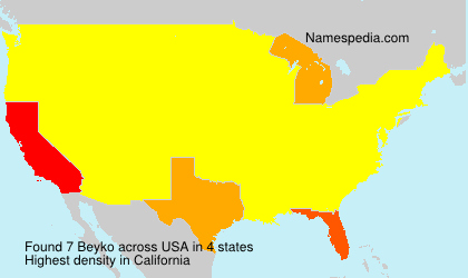 Surname Beyko in USA
