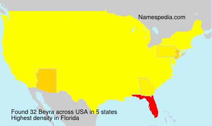 Surname Beyra in USA