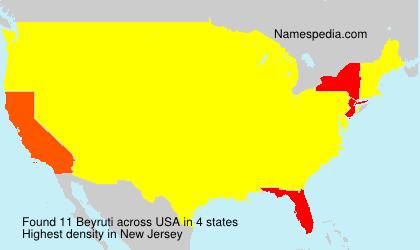 Surname Beyruti in USA