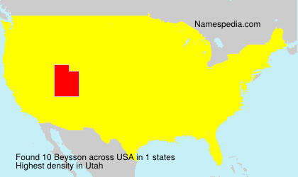 Surname Beysson in USA