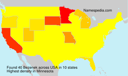 Surname Bezenek in USA
