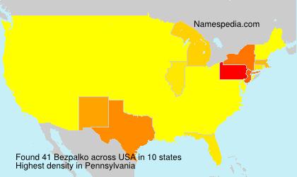 Surname Bezpalko in USA