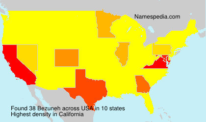 Surname Bezuneh in USA