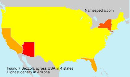 Familiennamen Bezzola - USA