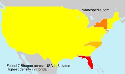 Familiennamen Bhagoo - USA