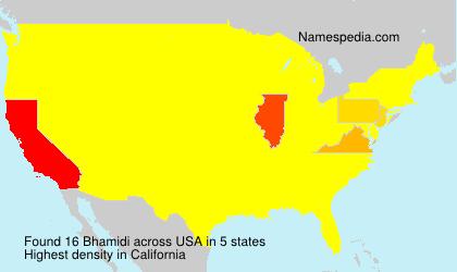 Surname Bhamidi in USA