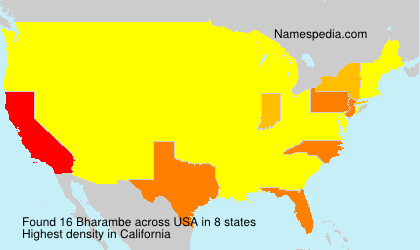 Surname Bharambe in USA