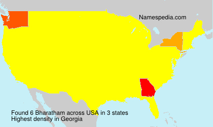 Surname Bharatham in USA