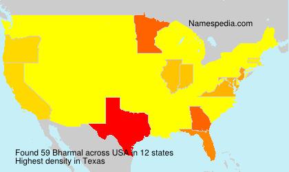 Familiennamen Bharmal - USA