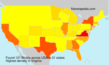 Surname Bhatta in USA