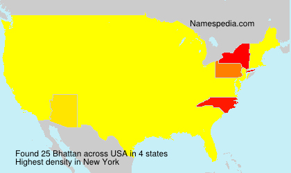 Surname Bhattan in USA