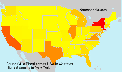 Surname Bhatti in USA