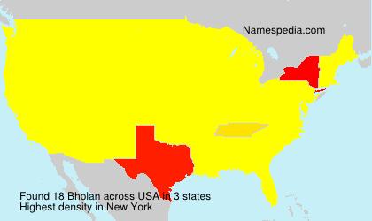 Familiennamen Bholan - USA
