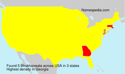 Surname Bhukhanwala in USA
