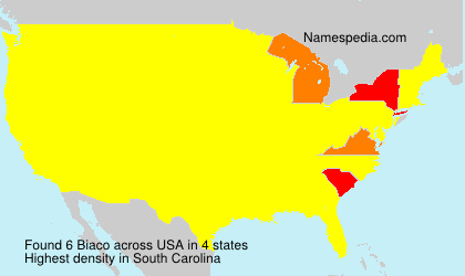 Surname Biaco in USA