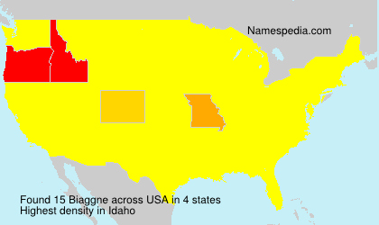 Surname Biaggne in USA