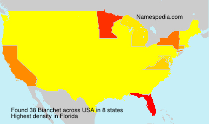 Familiennamen Bianchet - USA