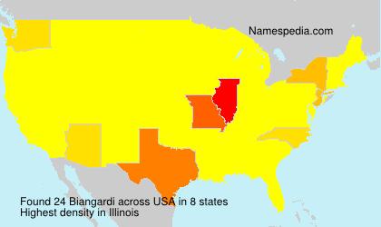 Familiennamen Biangardi - USA