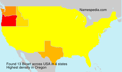 Surname Bicart in USA