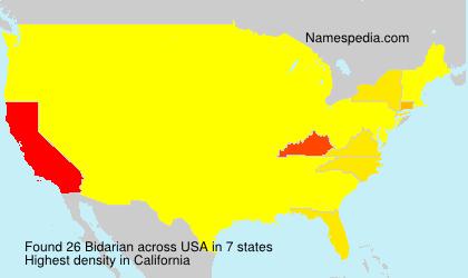 Surname Bidarian in USA