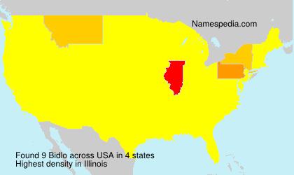 Familiennamen Bidlo - USA