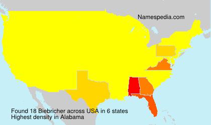 Familiennamen Biebricher - USA
