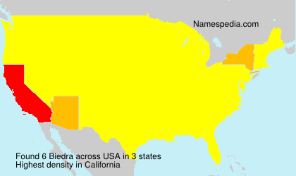 Surname Biedra in USA