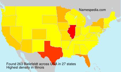 Familiennamen Bielefeldt - USA