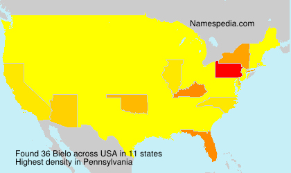 Surname Bielo is used at least 58 times in at least 7 countries.