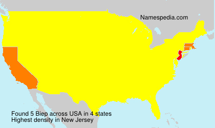 Surname Biep in USA
